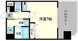 グランパシフィック難波南II[8階]の間取り