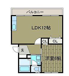 町田コープタウン14号棟[4階]の間取り