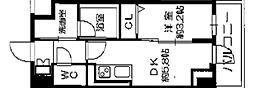 Osaka Metro長堀鶴見緑地線 西長堀駅 徒歩3分の賃貸マンション 4階1DKの間取り