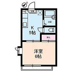 さくらパークA棟[2階]の間取り