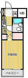 東京都品川区旗の台2の賃貸マンションの間取り