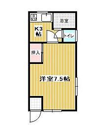 能勢アパート[101号室]の間取り