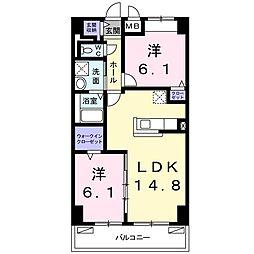 畑田町店舗付マンション[0602号室]の間取り