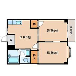 静岡県静岡市葵区羽鳥6丁目の賃貸アパートの間取り