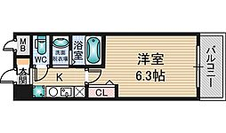 エムロード新大阪[5階]の間取り