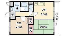 レイクジュネバ[3階]の間取り