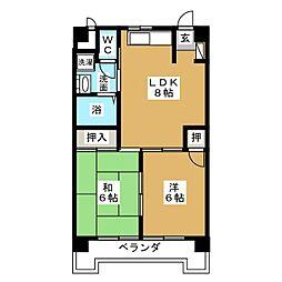 丸の内カジウラマンション[7階]の間取り