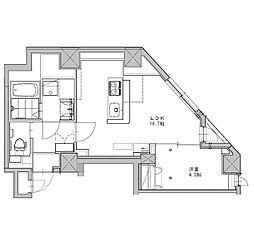 JR総武線 千駄ヶ谷駅 徒歩4分の賃貸マンション 6階1LDKの間取り