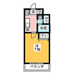 A-City柴田 1階1Kの間取り