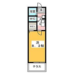 愛知県海部郡大治町大字三本木字村部の賃貸アパートの間取り