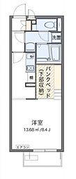JR赤穂線 大多羅駅 徒歩15分の賃貸アパート 1階ワンルームの間取り