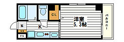 KARAHORI M[4階]の間取り