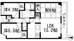 グランツOKAMOTO7[5階]の間取り