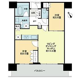 ザ・パークハウス 中之島タワー[18階]の間取り