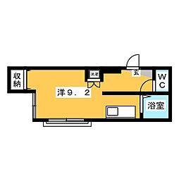 コーポS6[2階]の間取り