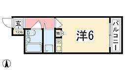 藤和シティコア姫路駅前[207号室]の間取り