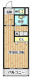大阪府高槻市芥川町3丁目の賃貸マンションの間取り