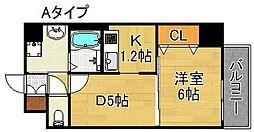 アバンサール清水丘[2階]の間取り