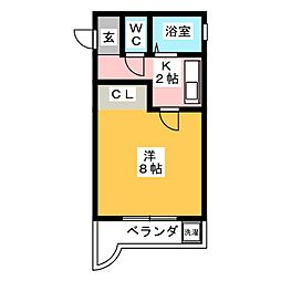 ドエルKMII[2階]の間取り
