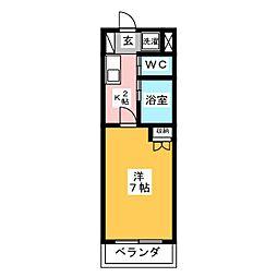 ボナール塩釜[3階]の間取り