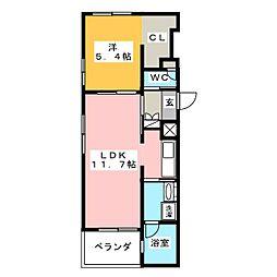 G.MIZUHO[1階]の間取り