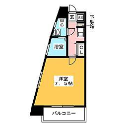 ソシアル天神[5階]の間取り