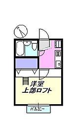 ジュネパレス茅ヶ崎[101号室]の間取り