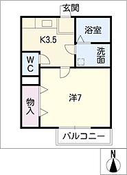 CLASSEED春日井[2階]の間取り