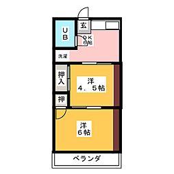コーポ寺島[2階]の間取り