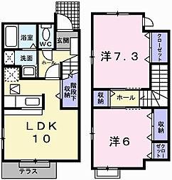 メゾン・オーブⅡ[1階]の間取り