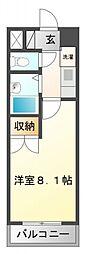 ラウム江坂[2階]の間取り