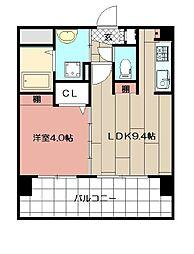 三島マンション博多駅東[203号室]の間取り