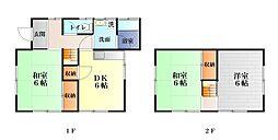 [一戸建] 神奈川県横須賀市大津町5丁目 の賃貸【/】の間取り