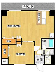 カスティール・イン・宇都宮[602号室]の間取り