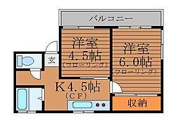 サンライズ荻窪[2階]の間取り