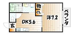 ドゥソレイユ21 A棟[1階]の間取り