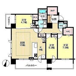 札幌市営東西線 西28丁目駅 徒歩5分の賃貸マンション 11階3LDKの間取り