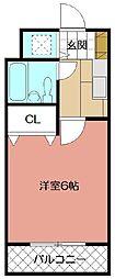 メゾンド青山 202[202号室]の間取り