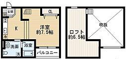 Opus One深井[2階]の間取り