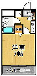 ライオンズマンション大正[5階]の間取り