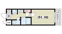 ロイヤルヒル神戸三宮Ⅱ[6階]の間取り