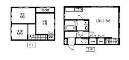 [タウンハウス] 東京都世田谷区桜3丁目 の賃貸【/】の間取り