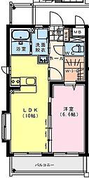 (仮称)出北・3丁目佐藤マンション 3階1LDKの間取り