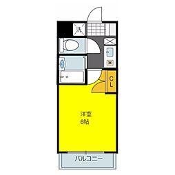 ルビダクォ荒本[3階]の間取り