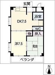 マンション細根[3階]の間取り