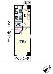 ソレイユ鳥居松[2階]の間取り