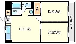 第5田村マンション[5階]の間取り