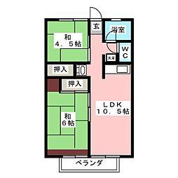 メントモア A・B・C[2階]の間取り