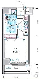 JR山手線 田町駅 徒歩13分の賃貸マンション 2階1Kの間取り