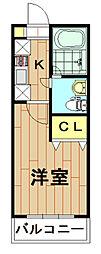 神奈川県川崎市幸区北加瀬3丁目の賃貸マンションの間取り